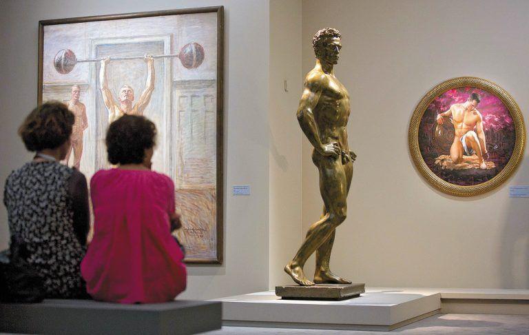 """Die """"Nackten Männer wanderten vom Wiener Museum Leopold"""