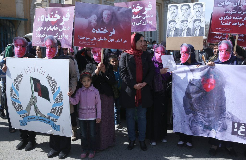 Proteste in Kabul nach Lynchmord an Frau