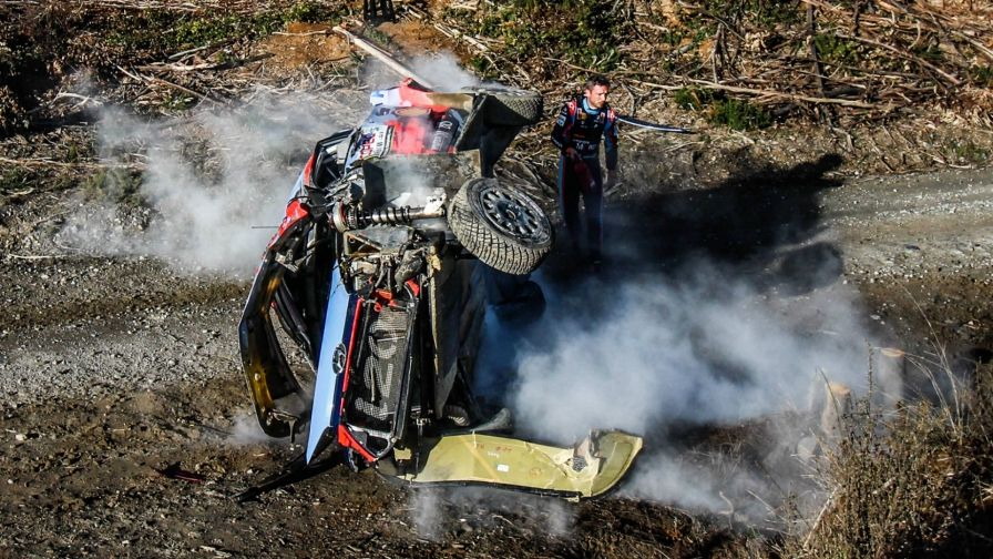 Rallye-WM: Horror-Crash von Leader Neuville in Chile