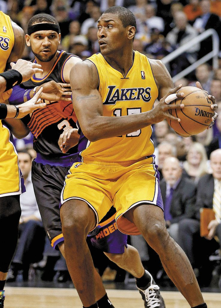 Comeback im Lakers-Dress: Metta World Peace. Foto: ap
