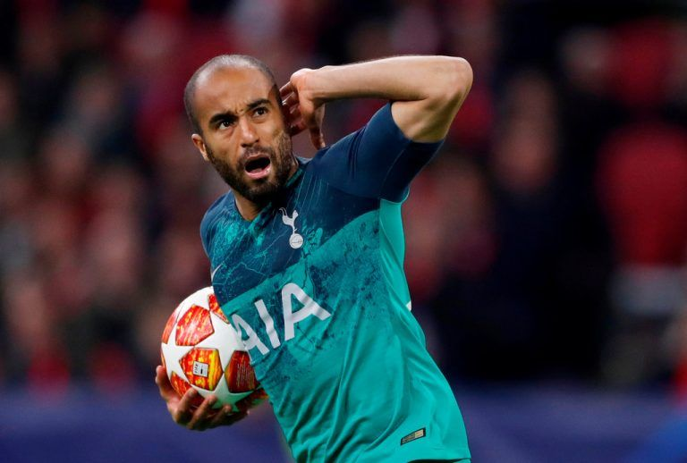 Soccer Football - Champions League Semi Final Second Leg - Ajax Amsterdam v Tottenham Hotspur - Johan Cruijff Arena, Amsterdam, Netherlands - May 8, 2019 Tottenham's Lucas Moura celebrates scoring their first goal Action Images via Reuters/Matthew Childs