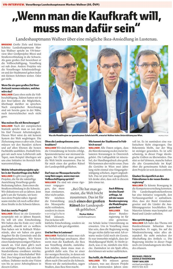 VN-Interview vom 2. Jänner 2018.