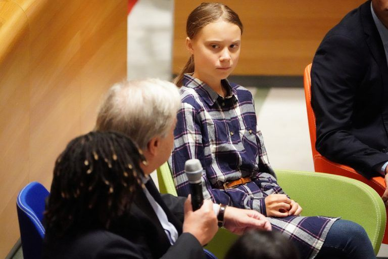 Klima-Aktivistin Greta Thunberg beim Jugendgipfel in New York. Reuters