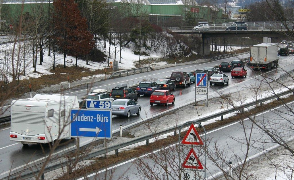 Temporäres Abfahrverbot in Bludenz