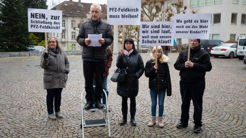 Demonstration gegen Feldkircher Sonderschul-Aus