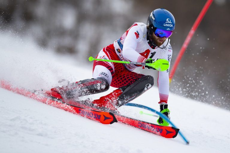 KITZBUEHEL,AUSTRIA,26.JAN.20 - ALPINE SKIING - FIS World Cup, Hahnenkamm-race, slalom. Image shows Marco Schwarz (AUT). Photo: GEPA pictures/ Patrick Steiner