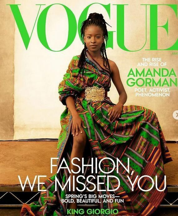 "Amanda Gorman auf dem ""Vogue""-Cover"